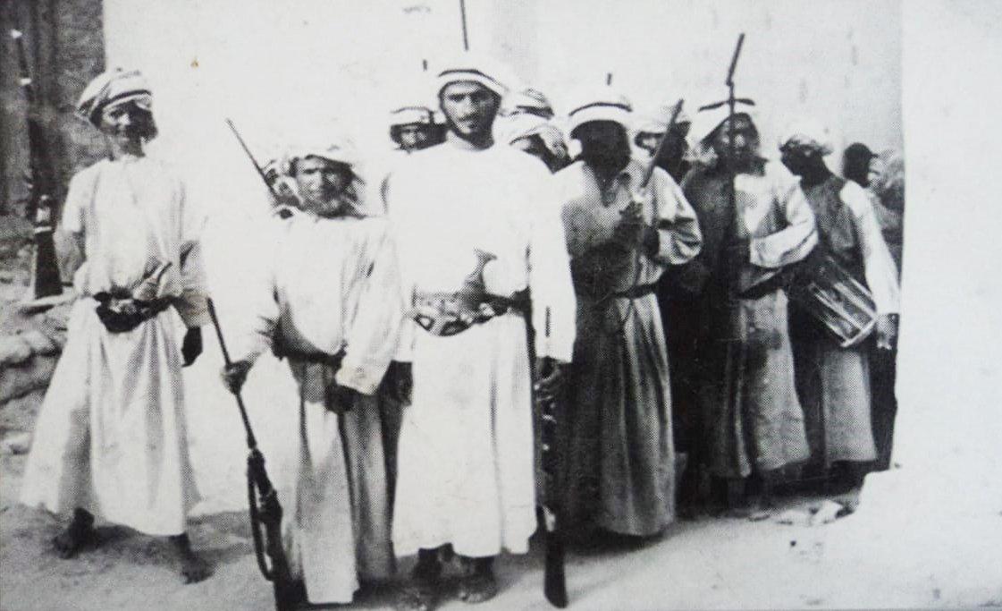 ناصر رحیم کی فراہم کردہ اس تصویر میں عمان کے عرب سپاہی نظر آ رہے ہیں۔