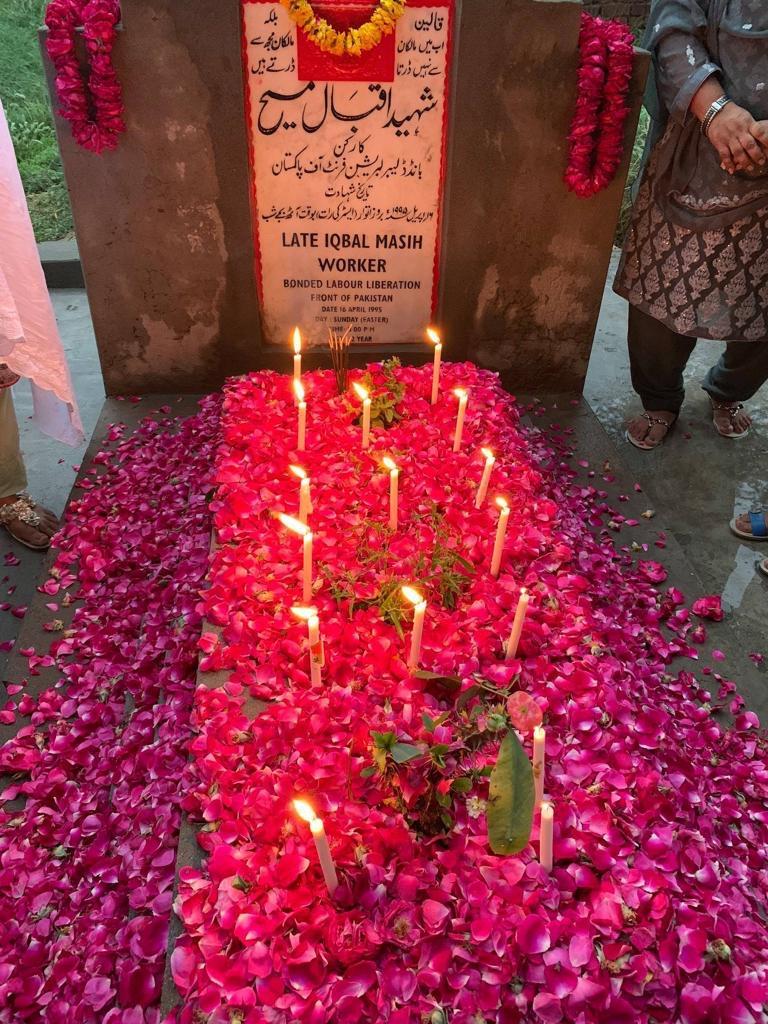 Iqbal Masih's grave .JPG