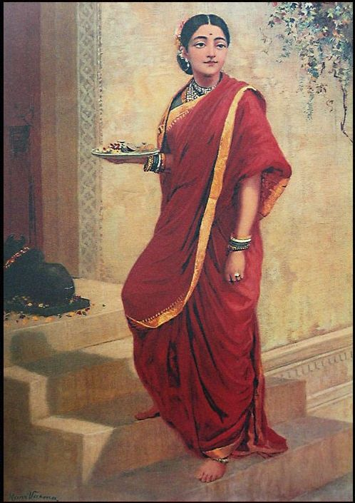 Raja_Ravi_Varma,_Lady_Going_for_Pooja.jpg